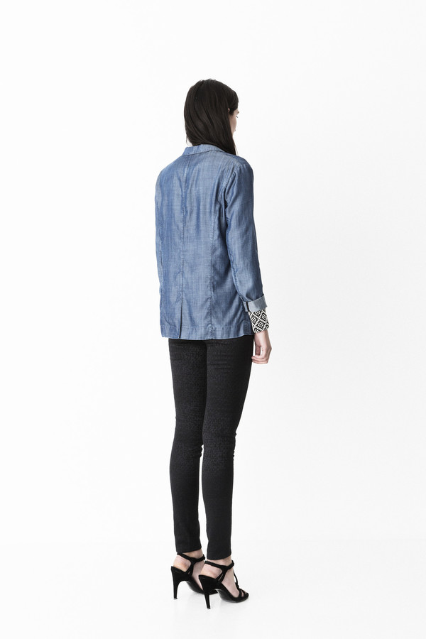 "Storm + Marie Storm and Marie ""Pihl"" Dark Chambray Blazer"