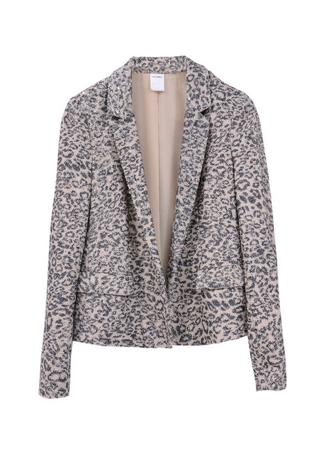 The Korner Sequin Leopard Print Blazer