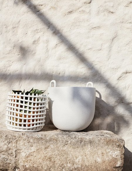 Ferm Living Large Ceramic Basket - Off White