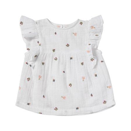 kids bonheur du jour celeste blouse - white