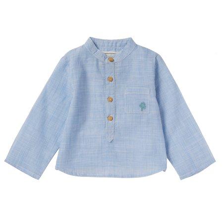 kids bonheur du jour gaspard striped shirt - blue