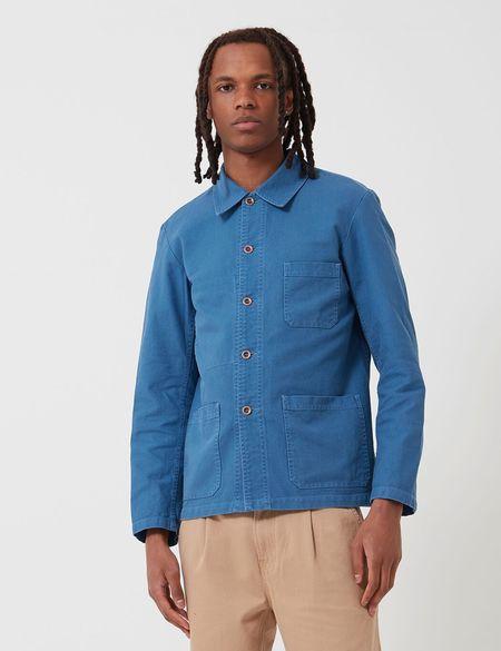 Vetra Cotton Drill French Workwear Jacket - Waid Blue