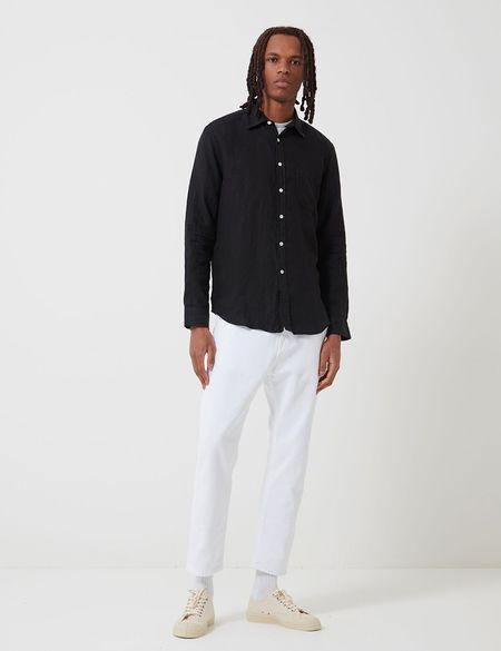 Portuguese Flannel Linen Shirt - Black