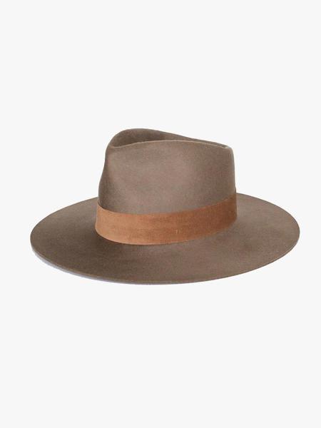 Janessa Leone Alara Fedora Hat - Dark Sand