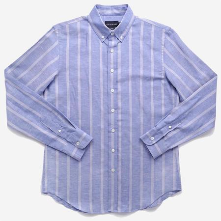 Outclass Attire Long-Sleeve Shirt - Blue Vertical Stripe