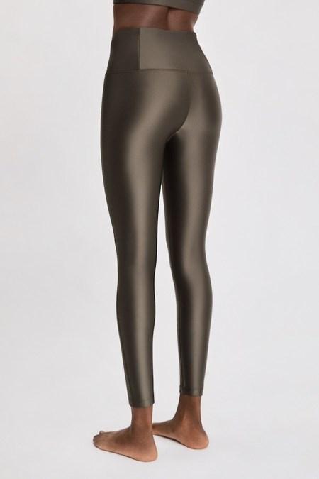 Filippa K Soft Sport Cropped Gloss Legging - Olive