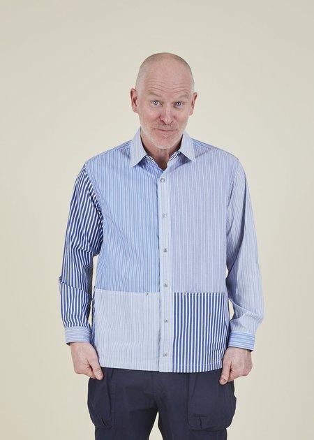 Sage de Cret Stripe Pattern Work Shirt