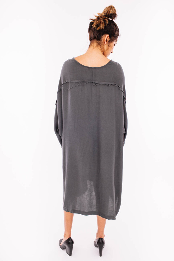 Black Crane Dome Dress (Dark Shadow)