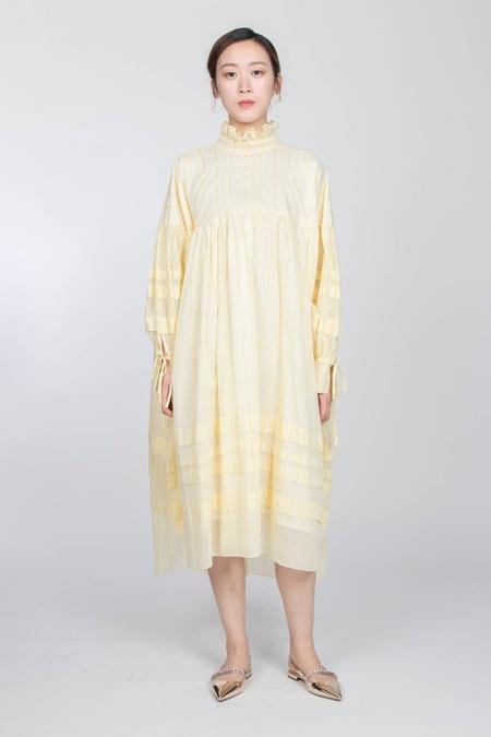 Cecilie Bahnsen LONG SHIRT DRESS WITH PLEATS