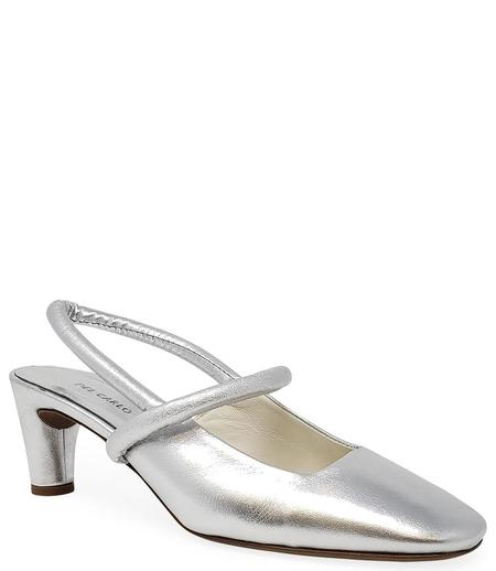 Del Carlo Closed Toe Heel - Silver