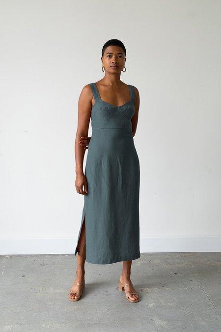 Waltz Bralette Dress - Spruce