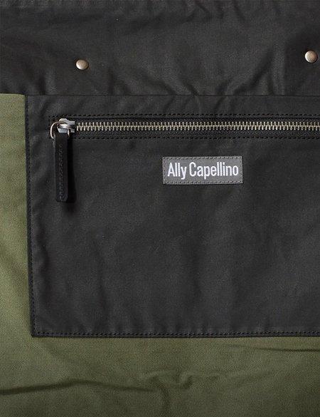 Ally Capellino Freddie Waxed Cotton Holdall - Black