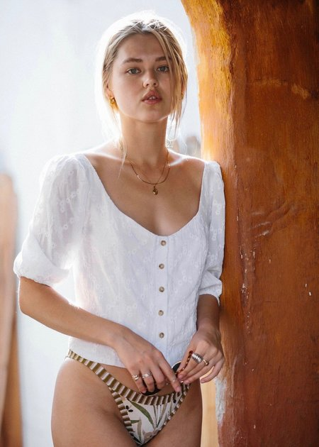 Merritt Charles Romeo blouse - white