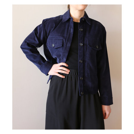GREI Two Pocket Cropped Jacket - Navy
