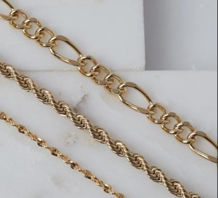 Natalie B Triple Crown Bracelet Set - 24K Gold