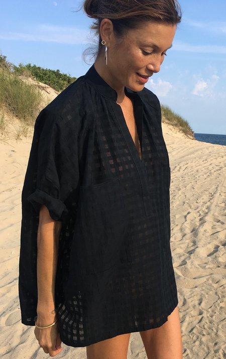 Two Grid Pocket Shirt - Black Grid