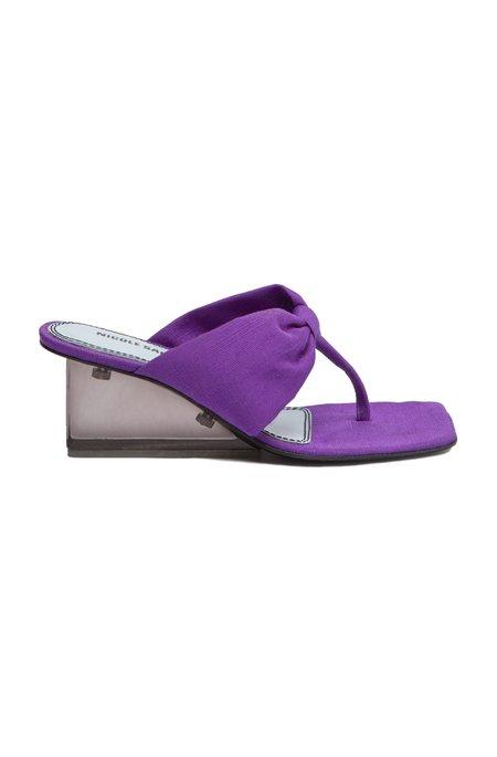 Nicole Saldana karina heels - plum canvas