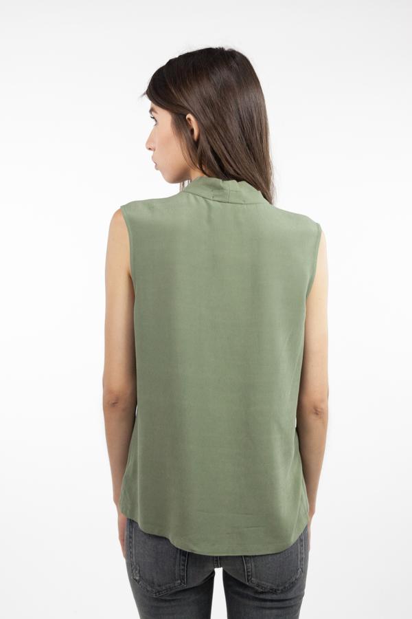 just female Mar Sleeveless Shirt - Litchen Green