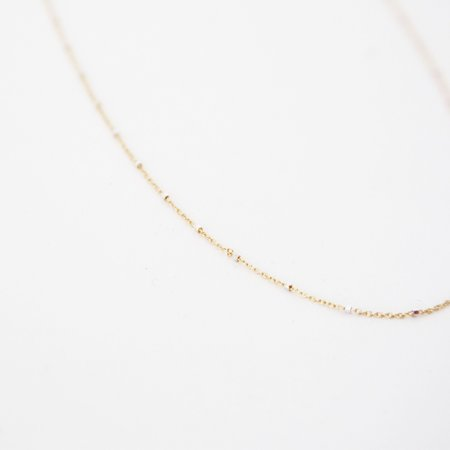 Carrie Hoffman Station Chain Necklace - 14K Yellow Gold