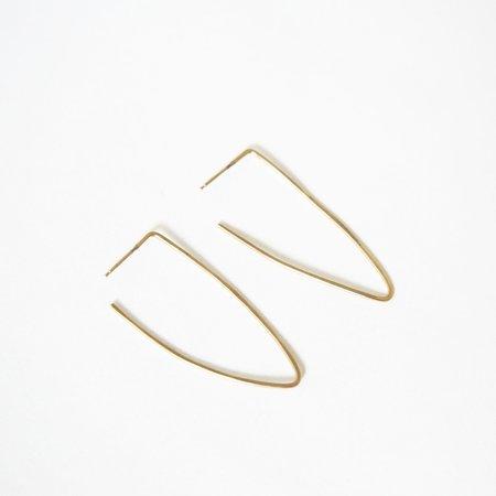 Takara Medium Pointed Hoops - 14K Gold