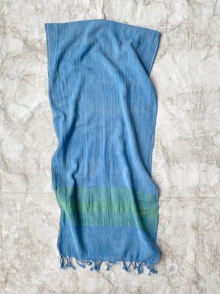 Cuttalossa & Co. Linen Runner - Cornflower Blue
