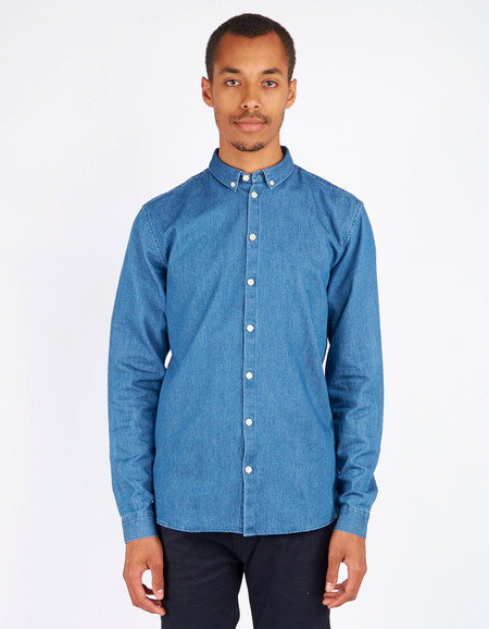 Men's Minimum Barden Shirt Medium Blue