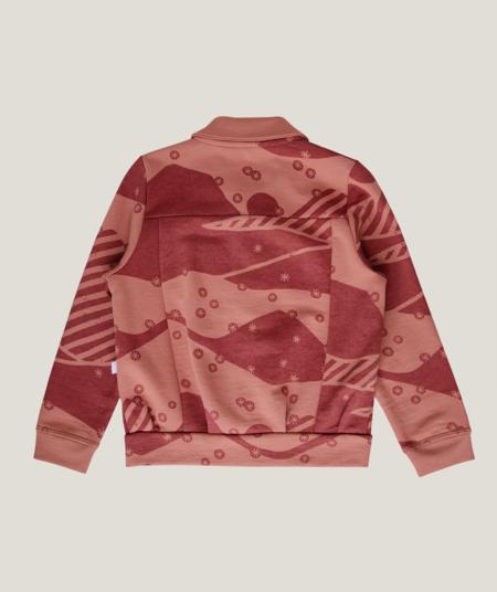 kids Granelito Snowy Andes Organic Pima Cotton Jersey Jacket - Rose Dawn