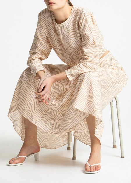 House of Dagmar Stacey skirt - sand print