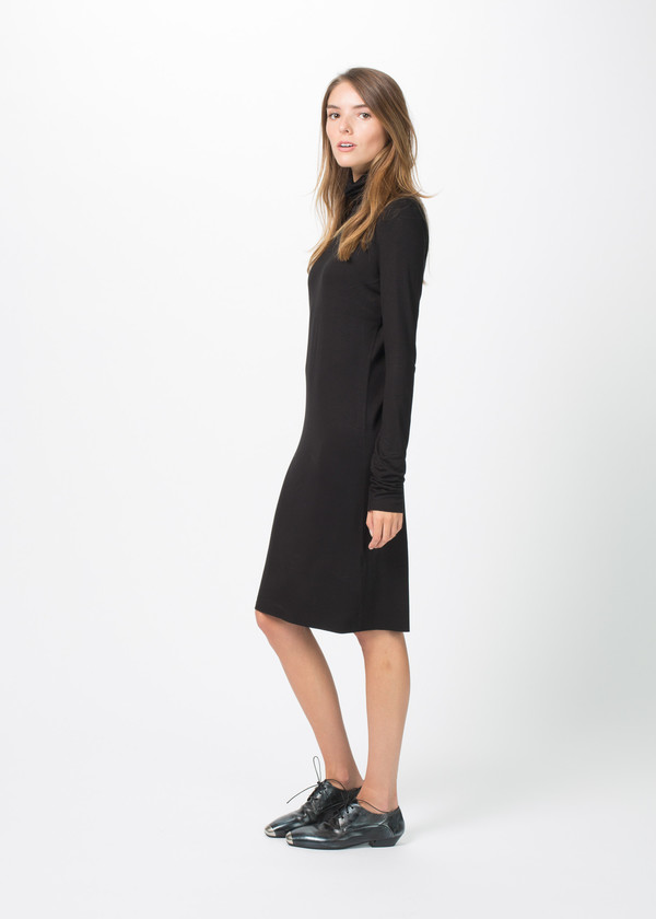 Organic by John Patrick Viscose Turtleneck Dress
