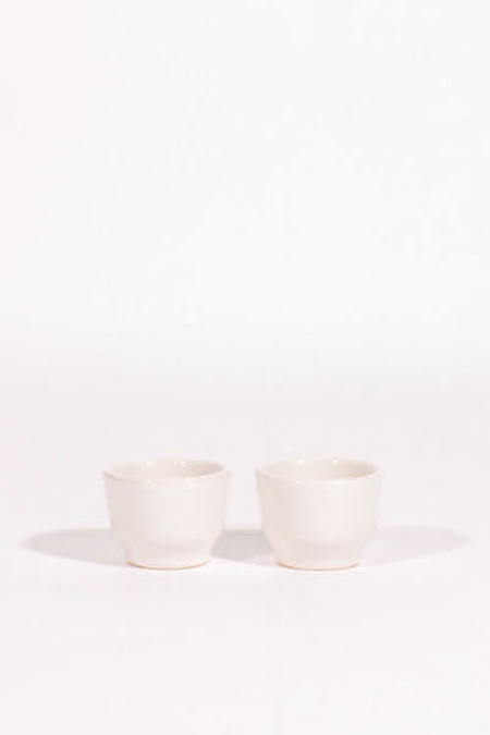 Lagos del Mundo Ceramic Shot Glasses - White