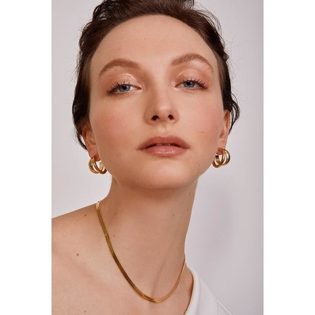 Lady Grey Pearl Herringbone Necklace - Gold