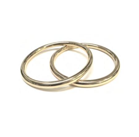 Lady Grey Core Bangle Set - 14K Gold Plated Bronze