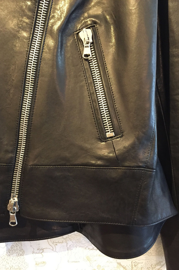 Veronica Beard 'Mission' swing back leather jacket