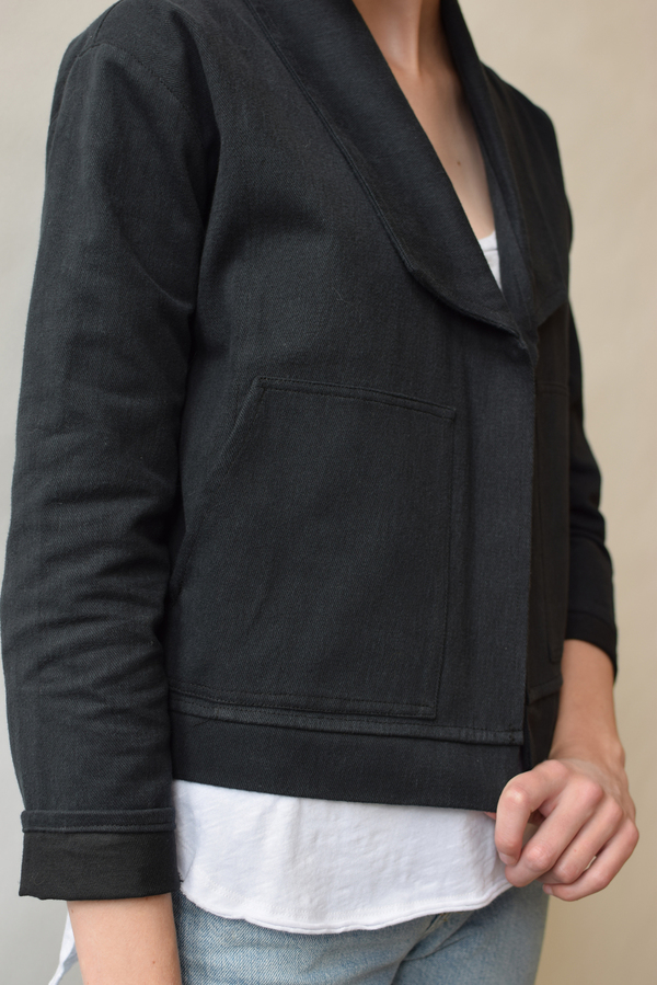 Hackwith Design House Cropped Denim Jacket