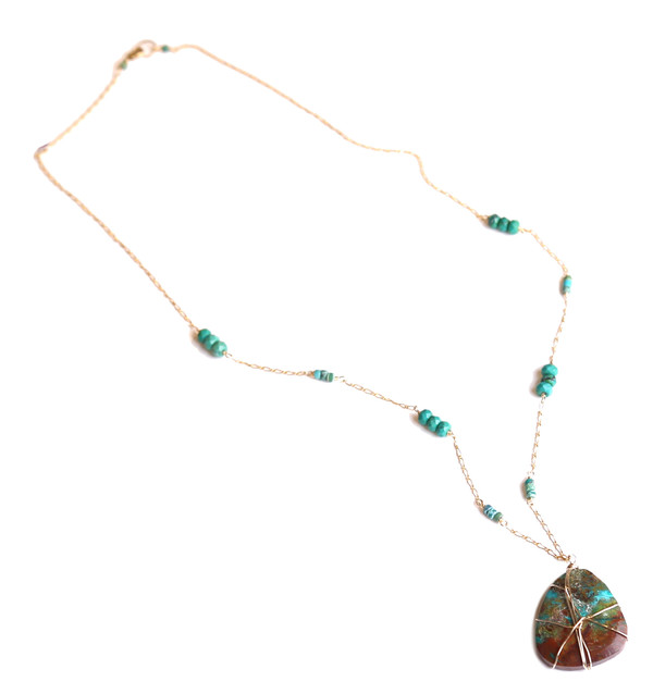 James and Jezebelle Turquoise Stone Pendant Necklace