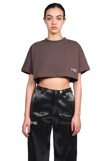 Heliot Emil Cropped T-shirt - Gray