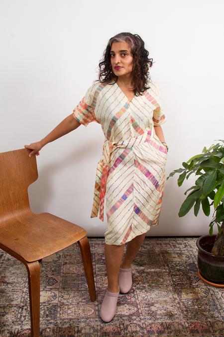 Bhoomki Aparna Dress with Sash - Leheriya