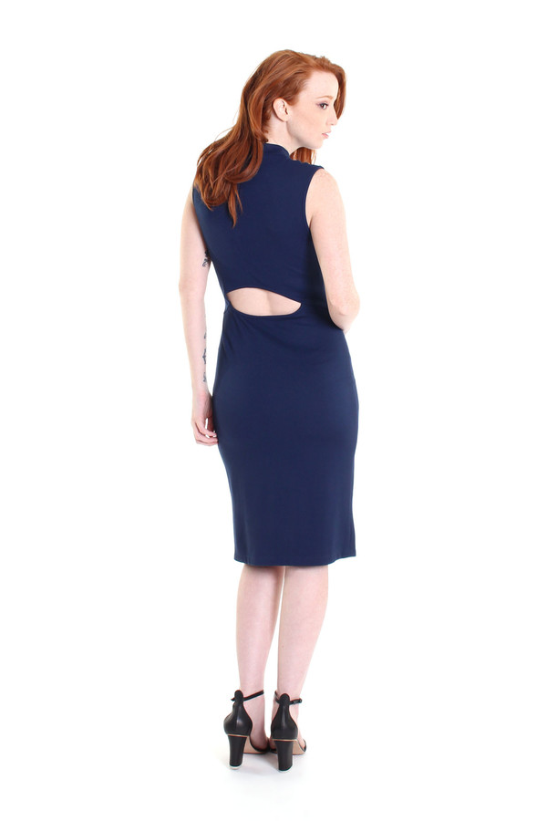 Obakki Amity dress in dark blue