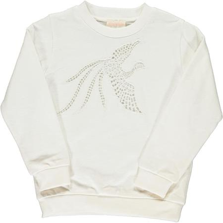 simple kids bird sweatshirt - milk