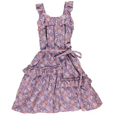 simple kids hanoi dress lilac