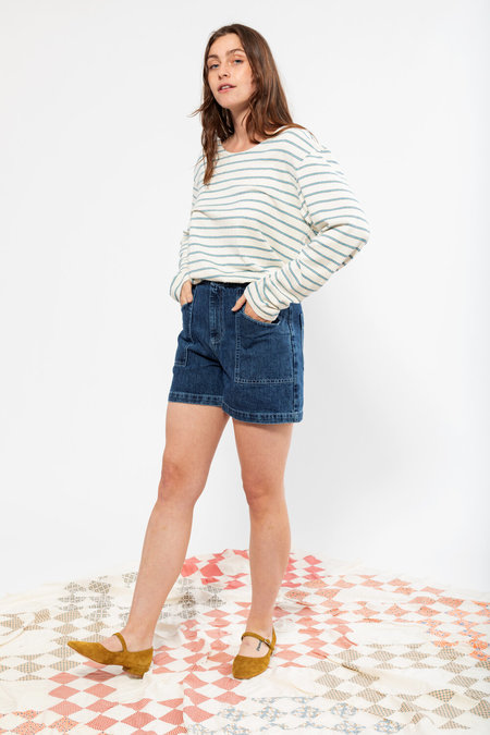 Carleen Birdie Shorts - Pacific Blue