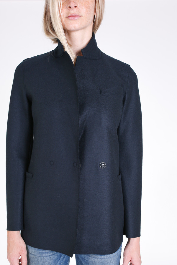 Harris Wharf London Double breasted blazer in dark blue