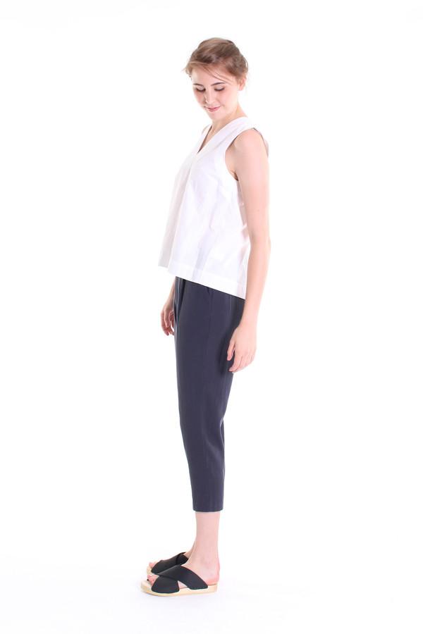Evam Eva Double cloth tuck pants in north sea