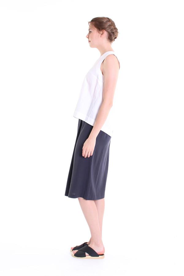Evam Eva Double cloth wrap skirt in north sea