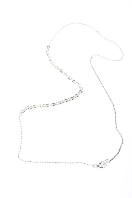 WWW. WILL SHOTT HESHE/ROPE/PUFF MARINA/BALL NECKLACE - Sterling Silver