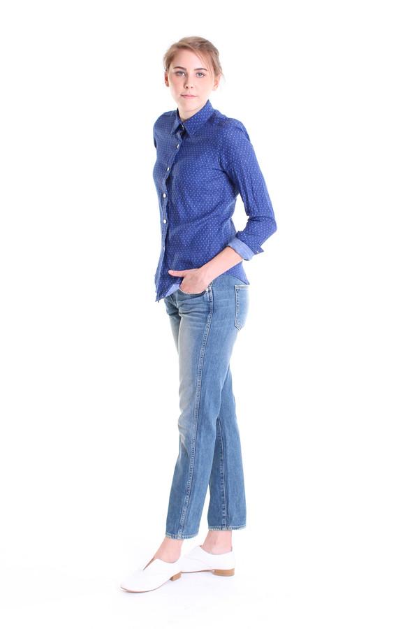 Vert & Vogue Long sleeve button down shirt in blue dot print