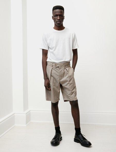 Engineered Garments Nyco Mini Tattersall Sunset Short - Khaki