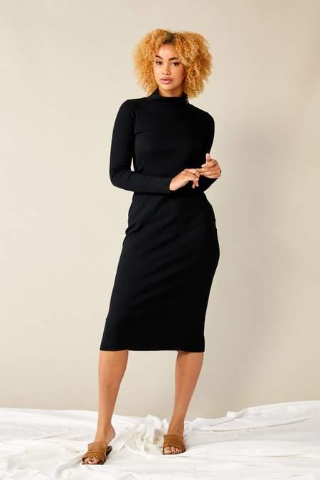 Lois Hazel Skivvy Rib Dress - Black