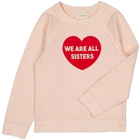 kids louis louise james sweatshirt - light pink