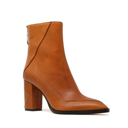 Sylven New York Almasi Calf Leather Boots - Cognac